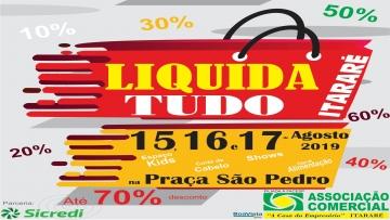 Feira de Liquidação 15, 16 e 17 de Agosto de 2019