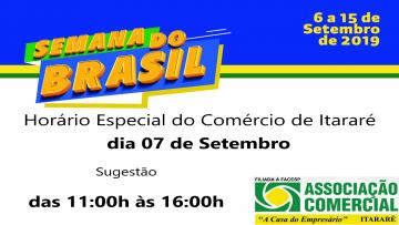 Comércio de Itararé abrirá no Feriado de 07 de Setembro