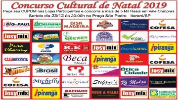 Campanha de Natal, sorteio dia 23 de Dezembro de 2019, às 20:00h na praça São Pedro de Itararé