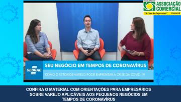 CONFIRA ORIENTAÇÕES SEBRAE