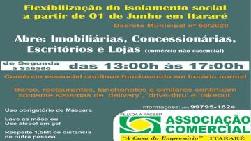 Flexibilização do Comércio em Itararé