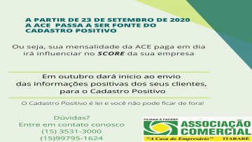 Associação Comercial de Itararé passa a ser fonte do Cadastro Positivo