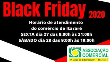 Horário Especial do Comércio em Itararé na Black Friday 2020