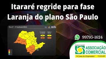 Itararé regride para fase Laranja do Plano São Paulo