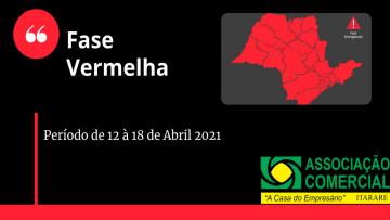 Fase Vermelha de 12 a 18 de Abril