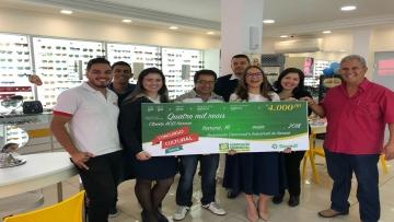 Associação Comercial entrega cheque de Quatro Mil Reais!