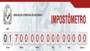 Impostômetro da ACSP registra R$ 1,7 trilhão