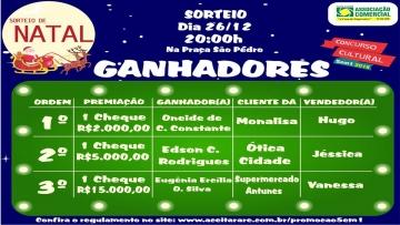 Sorteio de Natal do Concurso Cultural 5em1
